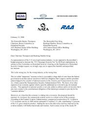 Coalition Letter to House Homeland Security Committee Chairman ...