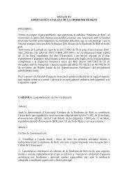 Estatuts Síndrome de Rett(Català). - Asociación Catalana del ...