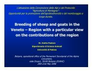 Breeding of sheep and goats in the Veneto – Region with a ...