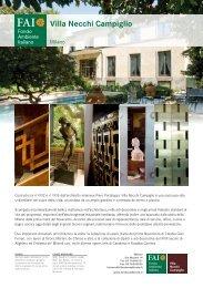 Villa Necchi e il percorso architettonico - Fai