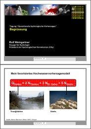 Begrüssung Rolf Weingartner - CHy