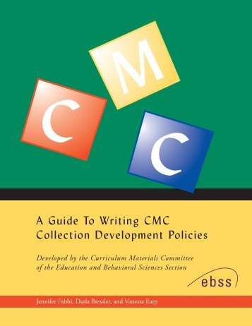 A Guide for Writing CMC Collection Development Policies
