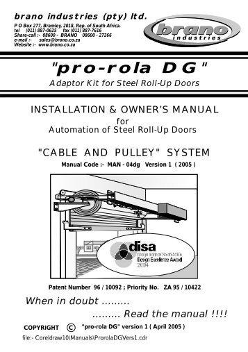 Pro-Rola DG Installation - Brano Industries