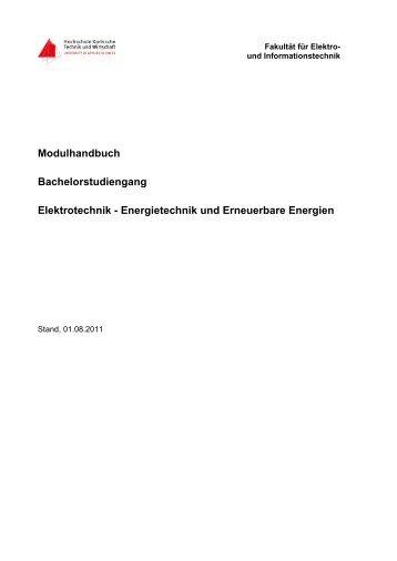 Modulhandbuch Bachelorstudiengang Elektrotechnik ...