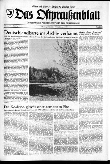 Folge 50 vom 15.12.1973 - Archiv Preussische Allgemeine Zeitung