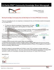 CA Clarity PPM™ Community Knowledge Share ... - Digital Celerity