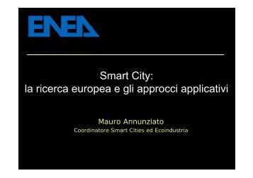La relazione di Annunziato al Forum Green City Energy