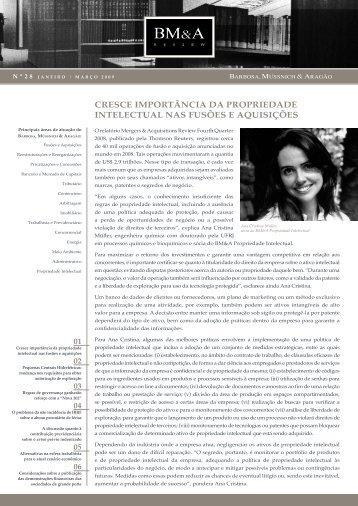 BM&A Review 28 | Janeiro - Março 2009 - Barbosa, Müssnich ...