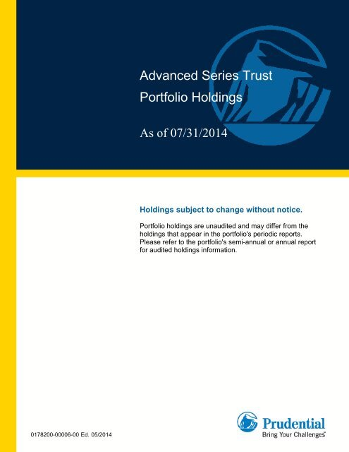 Ast Advanced Strategies Portfolio Continued Prudential