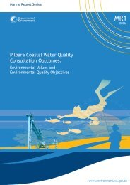 Pilbara Coastal Water Quality Consultation Outcomes