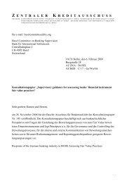 Stellungnahme (deutsch) - Die Deutsche Kreditwirtschaft