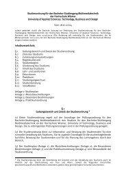 Studienordnung - Fachbereich Elektrotechnik und Informatik ...