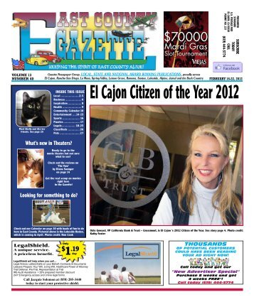 February 16 - East County Gazette
