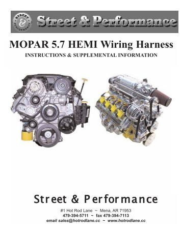 mopar 5 7 hemi wiring harness performance