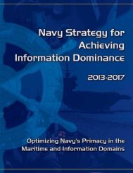 Navy Strategy for Achieving Information Dominance - US Navy Hosting