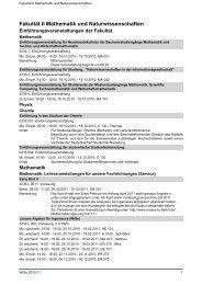 Fakultät II Mathematik und Naturwissenschaften - Index of