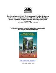 Seminario Internacional Experiencias y Métodos de ... - Condesan