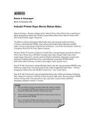 Industri Primer Kayu Boros Bahan Baku - Greenomics Indonesia