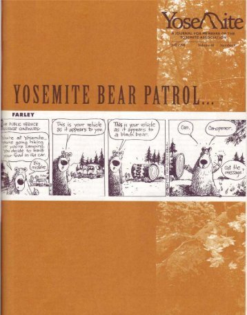 Yosemite Bear Patrol . . . on the Trail of Ursus ... - Yosemite Online