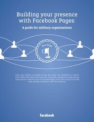 Building your presence with Facebook Pages: