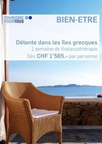 BIEN-ETRE - ES Voyages et Vacances SA
