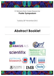 Abstract Booklet - Institute for Molecular Bioscience - University of ...