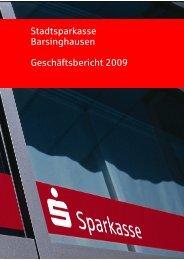 GS Bericht2009 - Stadtsparkasse Barsinghausen