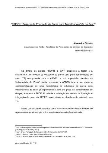 """""""PREVIH: Projecto de Educação de Pares para ... - VectWeb SM"""