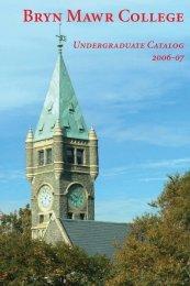Academic Calendars - Bryn Mawr College