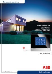 More options for your home. ABB i-bus® EIB/KNX - Busch-Jaeger ...