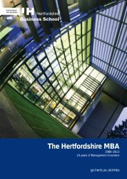 Download your copy of the MBA brochure now - University of ...
