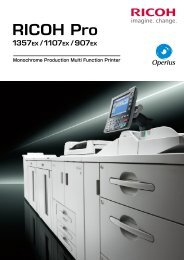 RICOH Pro 1357EX/ 1107EX/ 907EX 製品カタログ PDF - リコー