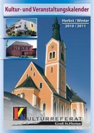 Kultur- und Veranstaltungskalender - Marktgemeinde Groß St. Florian