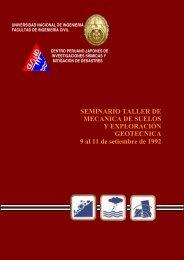 Seminario Taller de Mecánica de Suelos y Exploración Geotécnica