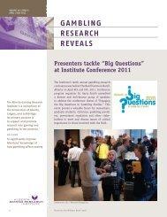 Issue 4, Volume 10 - April / May 2011 - Alberta Gambling Research ...