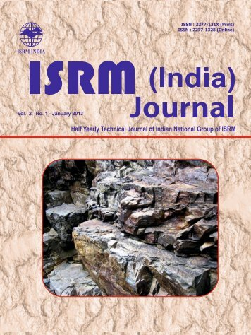 The 3rd issue of the journal, Vol.2, N. 1, January-June 2013 ... - ISRM