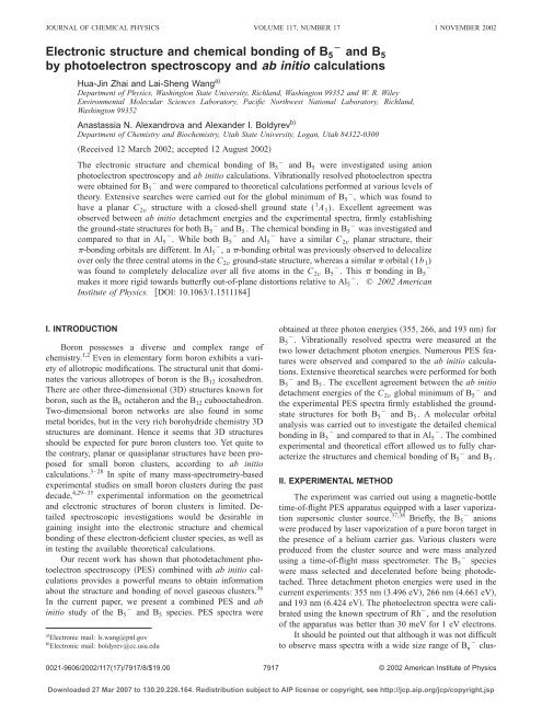 Electronic structure and chemical bonding of B5 ... - ResearchGate