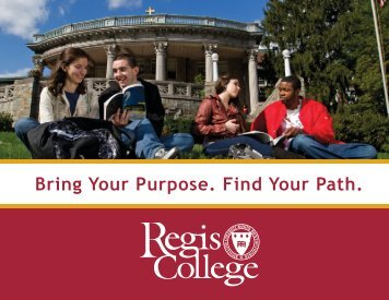 Take a look at our new Viewbook - Regis College