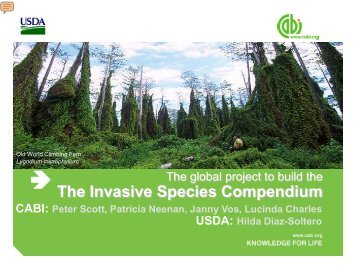 The Invasive Species Compendium - InvasiveSpecies.gov!