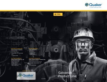 Galvanize Product Line - Quaker Chemical Corporation