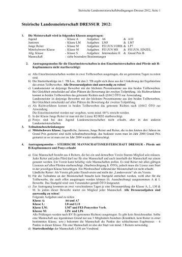 ST-LM Dressur 2012 - pferd-steiermark.at: Startseite