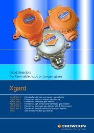 Fixed detectors For flammable, toxic or oxygen gases