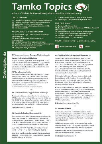 Tamko Topics 51 / 2012
