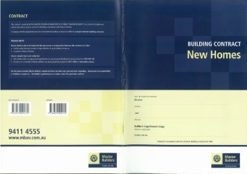 82. MBAV HC6 New Homes Building Contract-Edition 1-2007