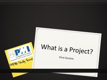 What Is a Project? - Project Management Institute