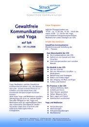 Gewaltfreie Kommunikation und Yoga - Norbert Struck Seminare