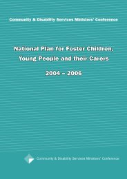 National Plan for Foster Children, Young People and their Carers ...