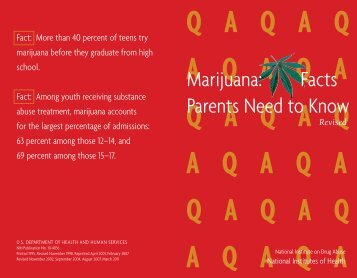Marijuana Facts Parents Need to Know PDF - ADAI Library