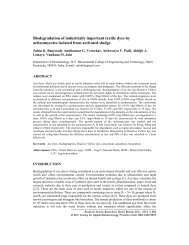 Biodegradation of industrially important textile dyes by ...
