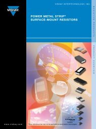 power meTAl sTrip® sUrfAce-moUnT resisTors